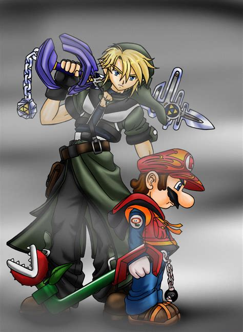 Master Keyblade Link Mario By Mauroz On Deviantart
