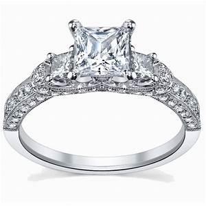 glamorous antique engagement ring 100 carat princess cut With 10k wedding rings