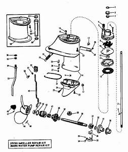 Evinrude Gearcase Group Parts For 1968 9 5hp 9822d