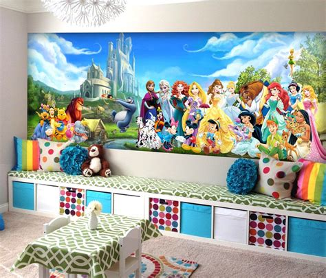 Disney Wallpaper For Bedrooms by Disney Characters Wall Mural Vinyl Mural Wallpaper Wall