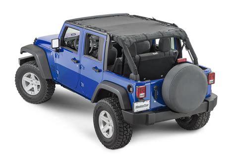 jeep wrangler unlimited soft top mastertop shademaker mesh bimini top plus for 07 18 jeep