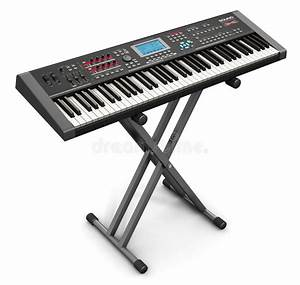 Professional Musical Synthesizer On Stand Stock ...