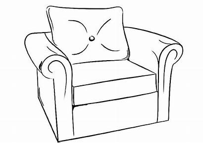 Coloring Furniture Pages Mebel Coloringtop