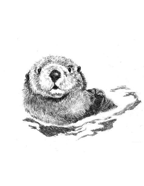 otter art animal art woodland decor woodland nursery