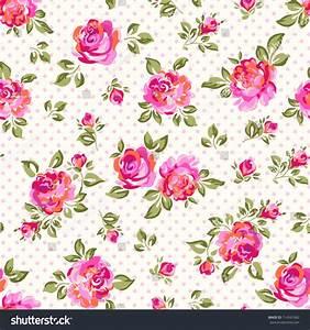 Little Rose Seamless Background Stock Vector 114561682 ...