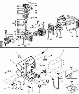 Dewalt D55153 Compressor  Type 1  Parts