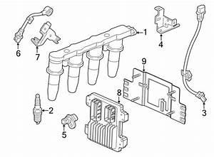 Chevrolet Sonic Bracket  Sensor  Crankshaft  Knock  1 8