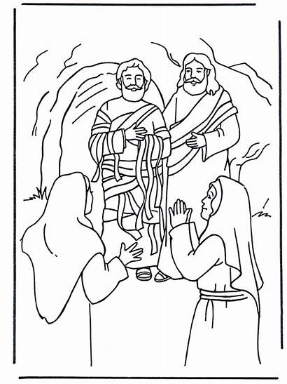 Lazarus Testament Funnycoloring Coloring Pages Bible Advertisement