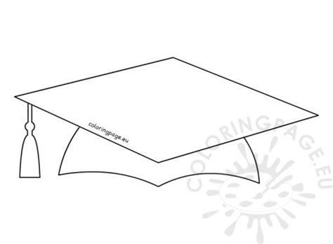 top of graduation cap template school coloring page