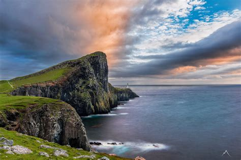 Cliffside Camping At Neist Point Isle Of Skye Scotland