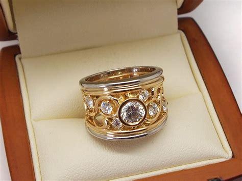 gold princess cut engagement rings gold vintage filigree band ring portfolio