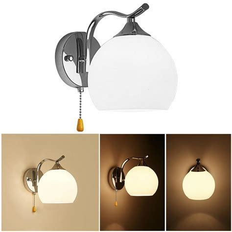 modern style pull wire switch scones led wall light cord