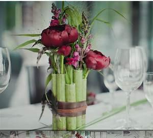 Bambus Pflege In Der Vase : bambus vase bambus pinterest bambus vasen und tischdeko ~ Lizthompson.info Haus und Dekorationen