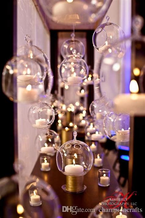 cm hanging glass candlesglass ball tea light holders