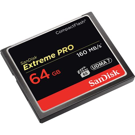 Without an sd card to record your images, your digital camera will end up feeling like a pricey paperweight. SanDisk 64GB Extreme Pro CompactFlash Memory SDCFXPS-064G-A46