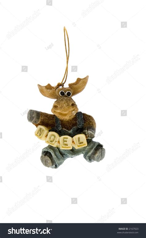 christmas tree decoration  resin moose hanging stock