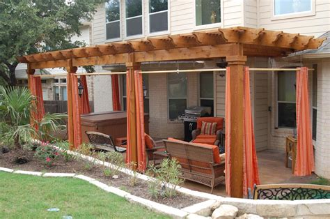 pergola privacy curtains outdoor living