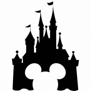 disney castle black and white clipart
