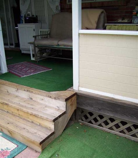 adding a handrail to my deck steps doityourself