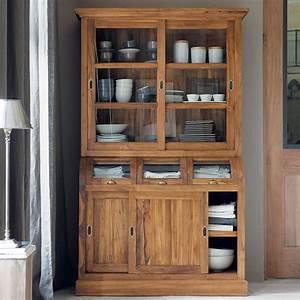 La Maison Möbel : vaisselier en teck massif vaisselier maison du monde ~ Watch28wear.com Haus und Dekorationen