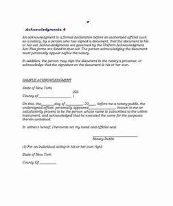 30 professional notarized letter templates template lab With notarized document template