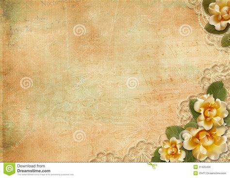 Rustic Lace And Rose Background