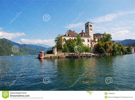 Lake Orta San Giulio Island Italy Stock Photo Image