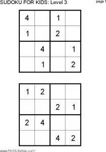 Free Printable Kids Sudoku Puzzles