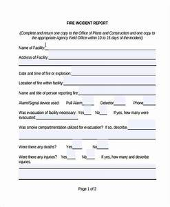 incident report form example With fire incident report form template