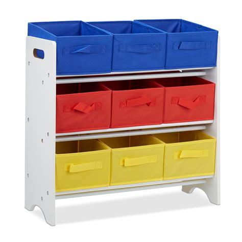 kinderregal mit boxen kinderregal mit boxen spielzeugkiste 9 faltk 246 rbe spielzeugregale kinderzimmer ebay