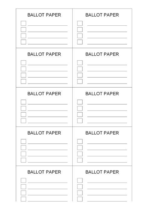 ballot template ballot ticket template dtk templates