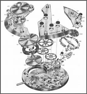 Manual Wind Watch Movement  Bridge Side  Illustration Page
