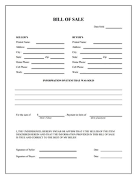 Boat Registration Print Out by General Bill Of Sale Form Free Create Edit