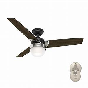 Hunter flare in led indoor matte black ceiling fan