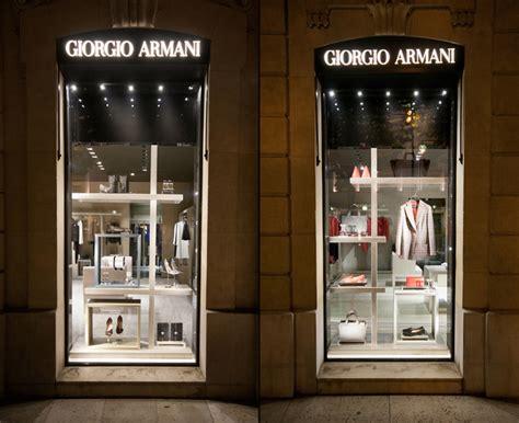 giorgio armani windows  summer paris france