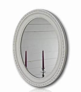 Spiegel Weiß Antik : spiegel wei antik oval 47 x 37cm holz wandspiegel barock ~ Sanjose-hotels-ca.com Haus und Dekorationen