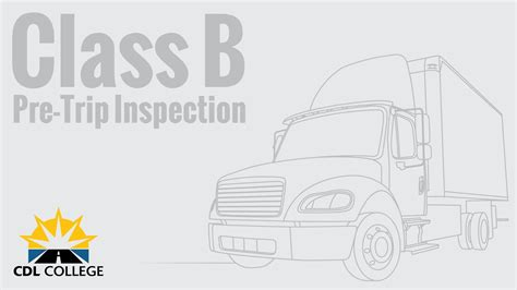 truck driver students class  pre trip inspection youtube
