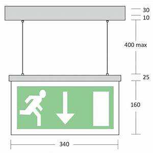 Mizzen - Wire Suspended Led Exit Sign