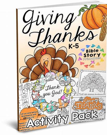 Bible Thanksgiving Activity Crafts Pack Printables Printable