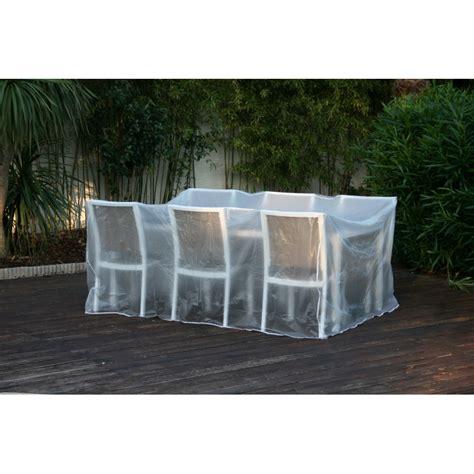 housse de protection pour salon de jardin transparente
