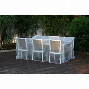 Housse Mobilier De Jardin : housse de protection plastique pour table de jardin rectangulaire ~ Teatrodelosmanantiales.com Idées de Décoration