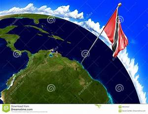 Trinidad And Tobago National Flag Marking The Country ...