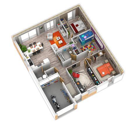 plan maison plein pied 4 chambres plan intérieur plein pied container et plans de maison