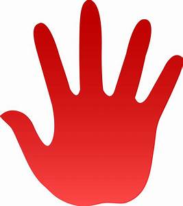 Red Hand Print - Free Clip Art