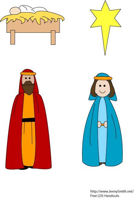 jenny smith s lds ideas nativity cutouts