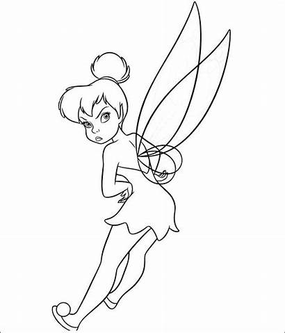 Tinkerbell Coloring Pages Template Templates Colouring Premium