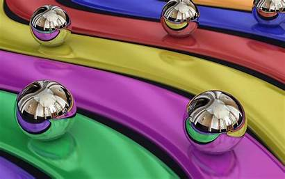 Colorful 3d Balls Liquid Background Wallpapers Desktop