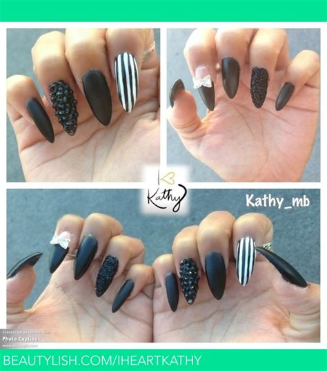 black matte stiletto nails kathy bs iheartkathy