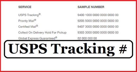 usps tracking number number format receipt
