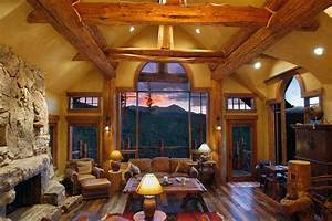 Hybrid Log House - Rustic - Living Room - Vancouver - by